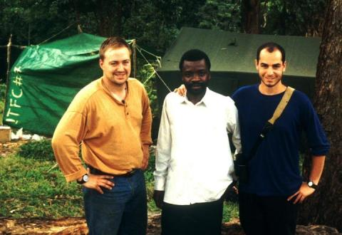 Field Museum reseachers in Bwindi-Impenetrable National Park, Uganda, in 1997